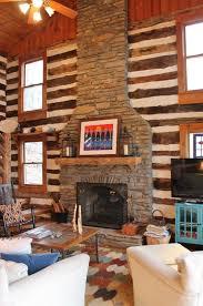 rustic mountain log cabin