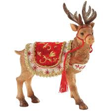 clothtique santa santa s reindeer christmas figurine by possible dreams en