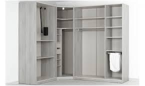 placard d angle chambre dressing d angle solano l 250 x l 200 x h 240 x p 58 cm chêne