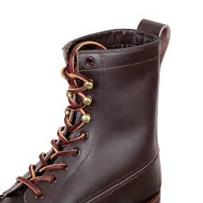 mens brown leather motorcycle boots lone wolf wood cutter boots in brown with cats paw sole
