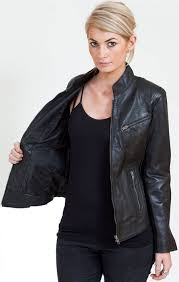 leather biker jacket eye catching black leather biker jacket for ladies leather