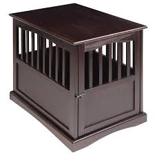 Dark Wood Furniture Amazon Com Dog Kennel Wood Bed Large Crate Oversized Pet Cage