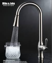 lead free kitchen faucets nickel brushed pull kitchen faucet sus 304 sink kitchen mixer
