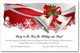 christmas invitations silver bells christmas invitations