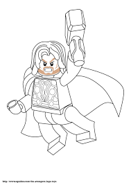 lego avengers coloring pages avenger lego coloring page thorjpg