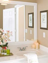 bathroom cabinets bathroom mirror frame ideas white frame mirror