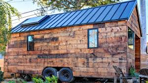brick tiny house tiny house on wheels modern rustic cabin feel small home design