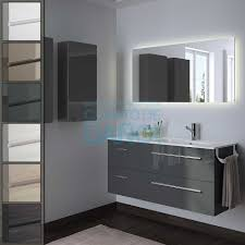 muebles de lavabo mueble de baño fussion chrome salgar suspendido 120 cm con lavabo