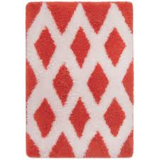 Coral Color Bathroom Rugs Mainstays True Color Memory Foam Bath Rug Coral Walmart
