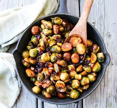 brussel sprouts for thanksgiving chestnut cranberry roasted brussels sprouts havoc in the kitchen