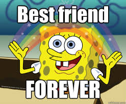 Best Friends Meme - best friend forever spongebob rainbow quickmeme
