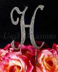 wedding cakes awesome letter h wedding cake topper designs