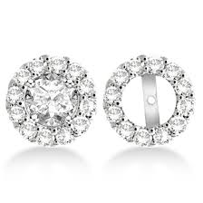 diamond earring jackets diamond earring jackets for all allurez jewelry