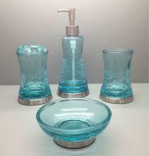 Glass Bathroom Accessories by Glass Bathroom Accessories Buy Crackle Glass Bathroom Accessories