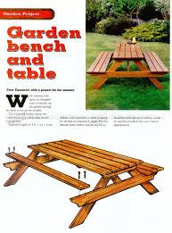 garden picnic table plans u2022 woodarchivist