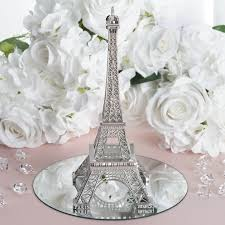 eiffel tower centerpieces treasured affection eiffel tower centerpiece 10 silver efavormart