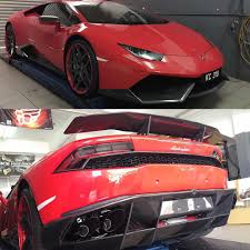 koenigsegg brunei novitec full aero kits and ipe f1 system on red devil huracan