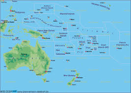 Map Of Pacific Australia Pacific Map Major Tourist Attractions Maps