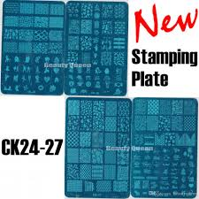 new 4 style xl full anime designs nail stamping plate nail art