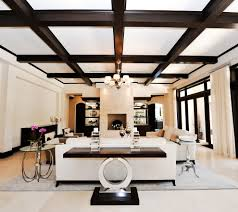 interior luxury 3d living room design idea with chic sofa and