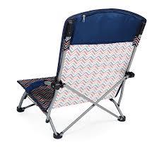 Fully Reclining Beach Chair Amazon Com Picnic Time U0027tranquility U0027 Portable Folding Beach