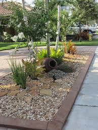 rock garden tropical miami with transitional landscape lights