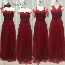 burgundy dress for wedding tulle burgundy convertible bridesmaid dresses 2017 cheap of