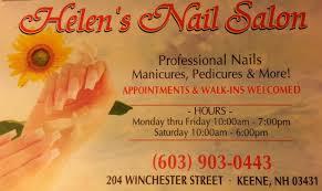 helens nail salon inc keene u0027s premiere nail salon services