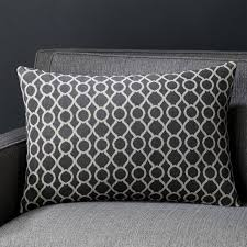 Linen Covers Gray Print Pillows White Walls Grey Throw Pillows Decorative And Accent Crate And Barrel
