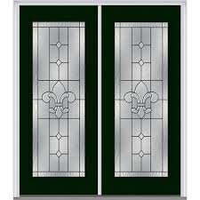mmi door 74 in x 81 75 in carrollton decorative glass full lite