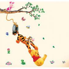 chambre bébé tigrou stickers winnie l ourson avec tigrou et porcinet chambre enfant