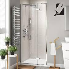 1000mm premium easyclean hinged shower door 8mm thick glass soak com