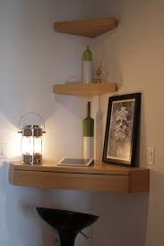 Shelf Designs Floating Corner Shelves Love The Corner Pull Out Drawer For
