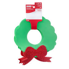 buy the christmas wreath foam shapes by creatology at michaels