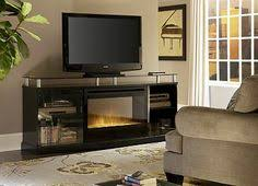 Fireplace Console Entertainment by Dwyer Electric Fireplace Entertainment Center In Burnished Pecan