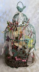 Shabby Chic Bird Cages by Butterfly Birdcage Shabby Chic Floral Arrangment With Butterflies