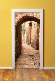 538 best trompe l oeil murals images on pinterest wall murals doorpix 36 x door mural wrap glossy bubble free sticker jerusalem stone passage to the western wall peel and stick easy to clean durable