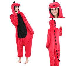 Kigurumi Halloween Costume Red Dinosaurs Kigurumi Onesies Pajamas Animal Halloween Costume