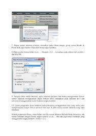 cara membuat nomor halaman yang berbeda di word 2013 cara membuat nomor halaman yang berbeda pada microsoft office word