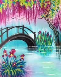 spring painting ideas spring bridge at wellington eatery paint nite events near ottawa