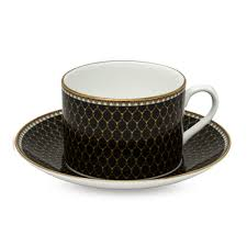 halcyon days black antler trellis tea cup u0026 saucer
