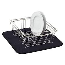 kitchen drying mat black dish drying mat the container store
