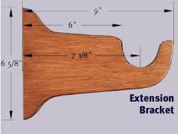 Curtain Rod Extension Brackets Amdella Custom 2 Wood Curtain Rod In Antique Silver