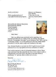 Legal Cease And Desist Letter by Morlandstudios Com
