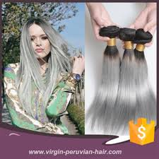 Two Tone Ombre Hair Extensions by 1b Grey Fusion Extension Ombre Color Hair Extensions Virgin