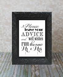 wedding wishes and advice well wishes and advice table sign mr mrs and groom
