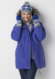 taslon anorak coat with zip out quilted lining plus size puffer