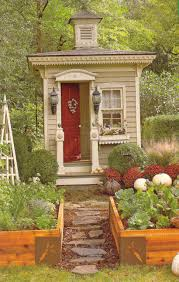 a tiny victorian outhouse as a small garden shed cabin retreat