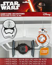 amazon com amscan star wars episode vll honeycomb decorations
