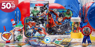 justice league party supplies superhero birthday party party